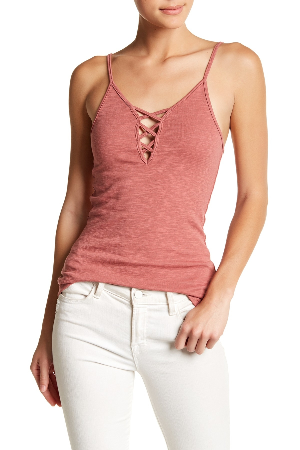 Anama Criss Cross Cami - Front Cropped Image