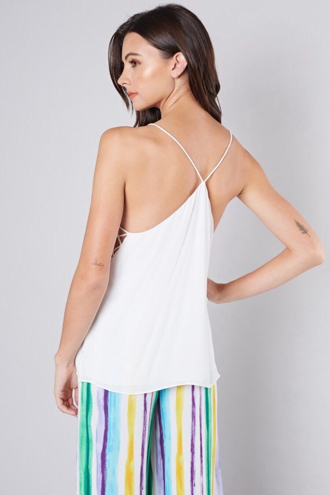 Do & Be Criss-Cross Cami Top - Back Cropped Image