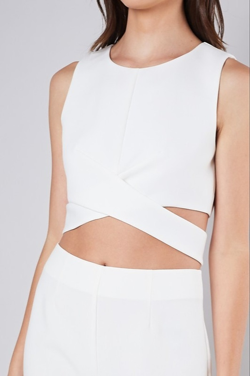 Do & Be Criss Cross Crop Top - Front Cropped Image