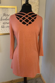 Kindred Mercantile  Criss Cross Curvy Tunic - Product Mini Image