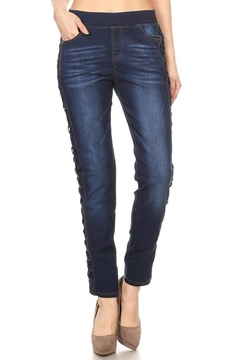 Shoptiques Product: Criss Cross Denim