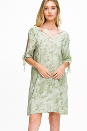 MONTREZ CRISS CROSS DETAIL BOHO DRESS - Product Mini Image