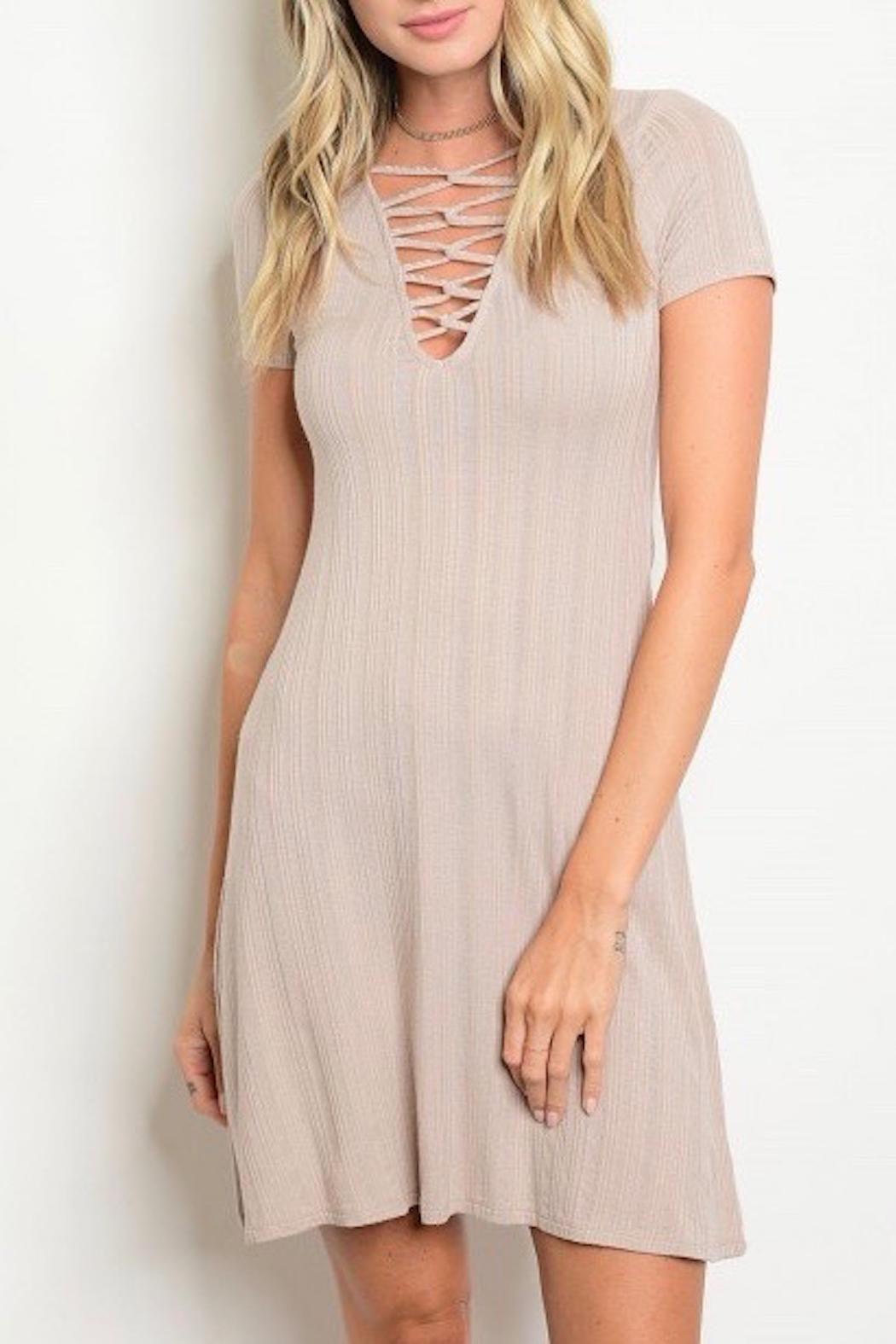 Favlux Criss Cross Dress - Front Cropped Image