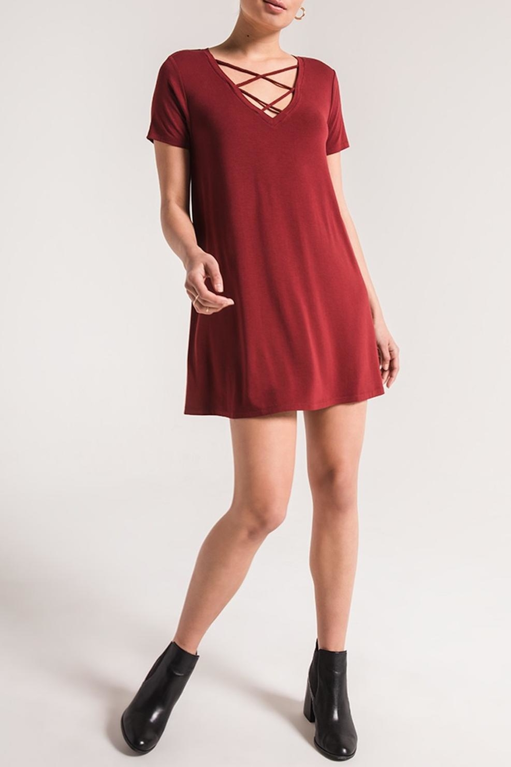 z supply Criss Cross Dress - Front Cropped Image