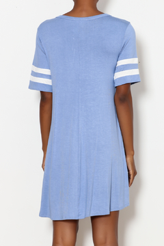 Andree by Unit Criss Cross Dress with Striped Sleeve Detail - Alternate List Image
