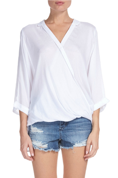 Shoptiques Product: Criss cross front top with 3/4 sleeve