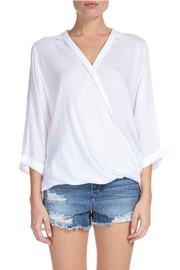 Elan Criss cross front top with 3/4 sleeve - Product Mini Image