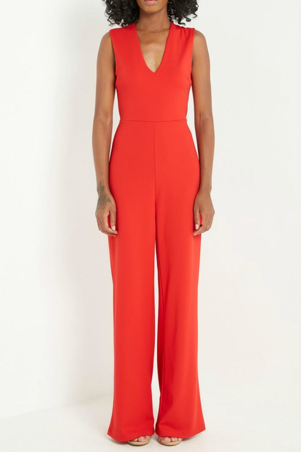 Pretty Little Things Criss Cross Jumpsuit - Main Image