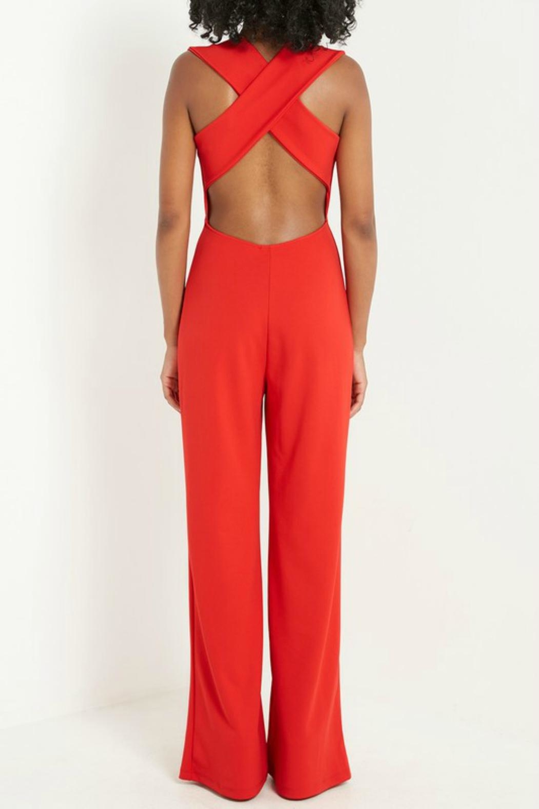 Pretty Little Things Criss Cross Jumpsuit - Front Full Image