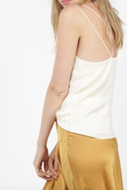 See U Soon Criss Cross Satin Tank - Front cropped