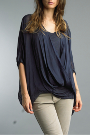 Tempo Paris Criss Cross Silky Top - Product Mini Image