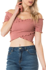 Apricot Lane Crisscross Crop Top - Product Mini Image