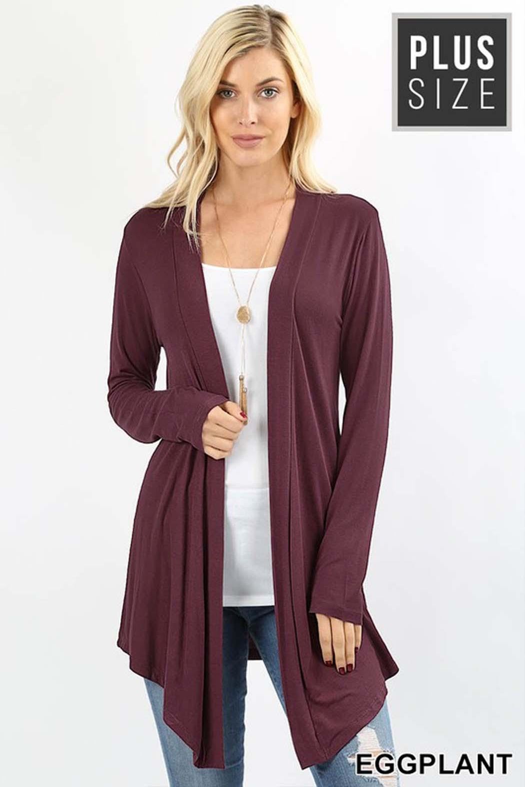 Zenana Outfitters Crissy Duster Cardigan - Front Cropped Image