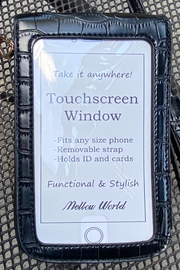 Mellow World croc embossed cell phone carrier with touch screen window - Product Mini Image