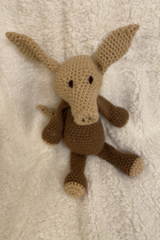 tesoro  Crochet Aardvark Stuffed Animal - Product Mini Image