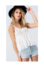 Polly & Esther Crochet Babydoll Top - Product Mini Image