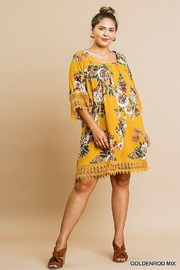 Umgee USA Crochet Bell Sleeve Square Neck - Front full body
