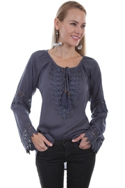 Scully Crochet Blouse - Product Mini Image