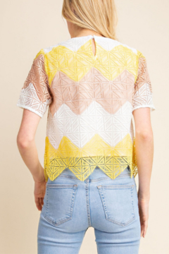 Gilli  Crochet Chevron Top - Alternate List Image