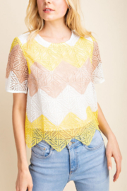 Gilli  Crochet Chevron Top - Product Mini Image