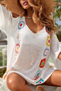 Look by M Crochet contrast Coverup - Product List Image