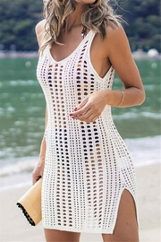 The Emerald Fox Boutique Crochet Cover up for Swimsuit - Front cropped