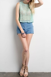 Compendium boutique Crochet Crop Top - Front cropped