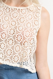 Compendium boutique Crochet Crop Top - Back cropped
