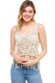 She + Sky Crochet Crop Top - Product Mini Image