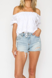 Olivaceous Crochet Crop Top - Product Mini Image