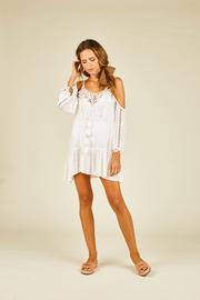 Surf Gypsy Crochet Detail Coverup - Product Mini Image