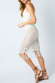 Cozy Casual Crochet Fringe Dress - Product Mini Image