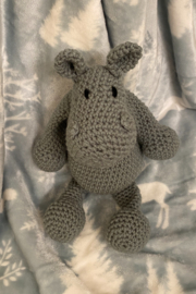 tesoro  Crochet Hippo Stuffed Animal - Product Mini Image