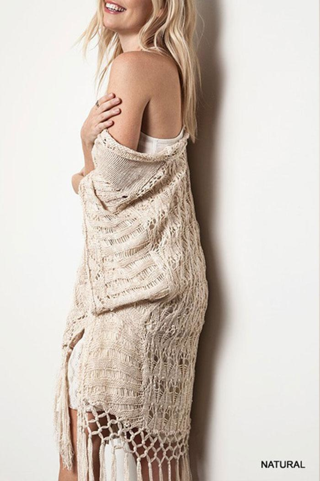KORI AMERICA Crochet Knit Sweater - Side Cropped Image