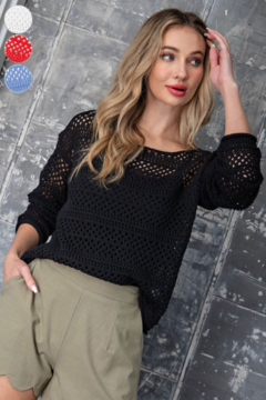 eesome Crochet Knit Sweater - Product List Image