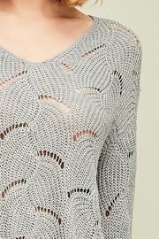 Entro Crochet Knit Top - Front full body