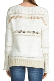Elan Crochet & Knit V-neck Sweater - Front full body