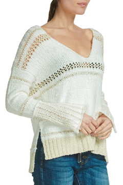 Elan Crochet & Knit V-neck Sweater - Product List Image