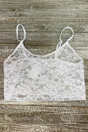 HaZe Apparel Crochet Lace 1/2 Cami - Product Mini Image
