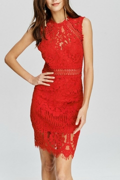 Pretty Little Things Crochet Lace Dress - Product List Image
