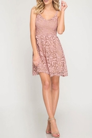 She + Sky Crochet Lace Dress - Product Mini Image