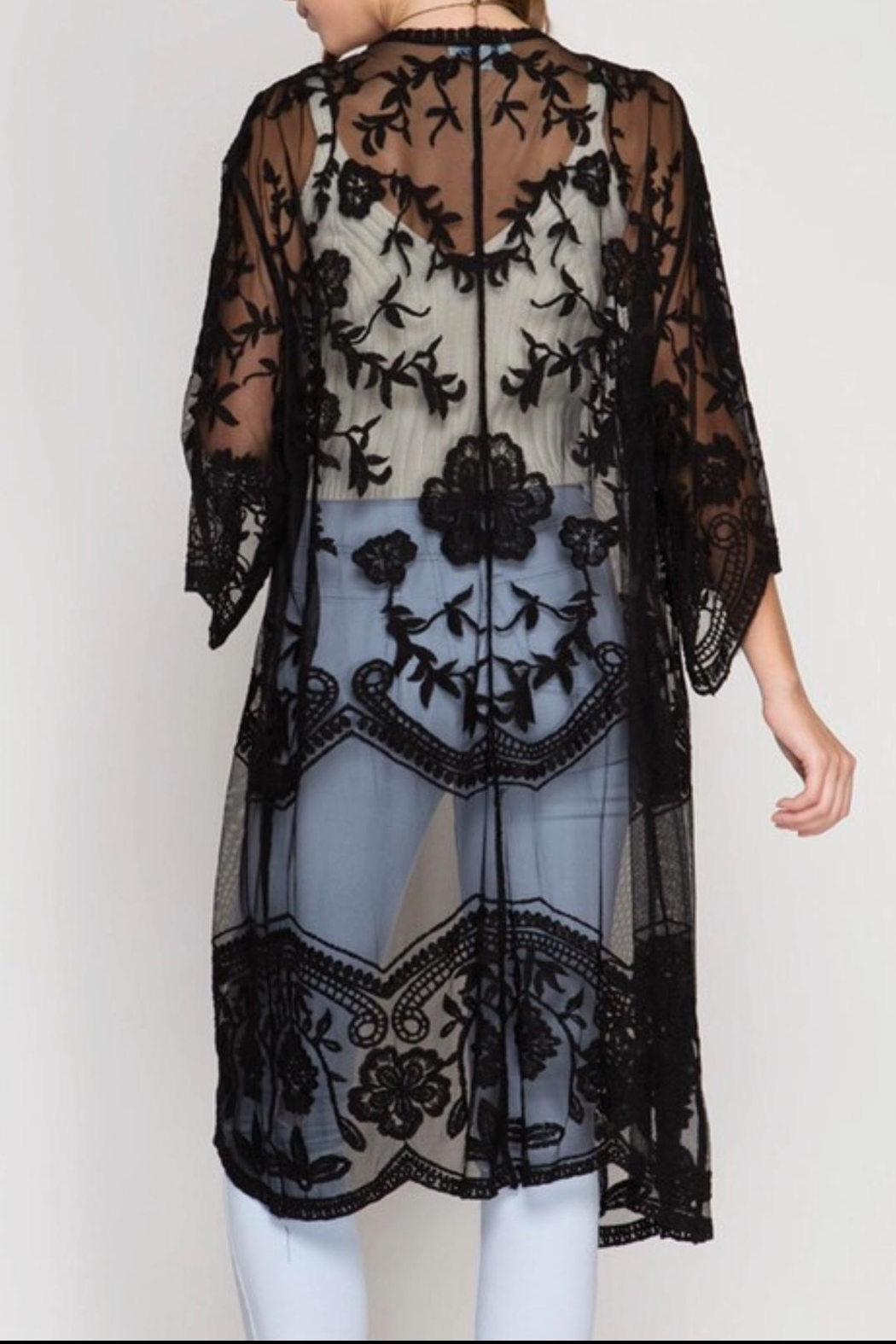 She + Sky Crochet Lace Duster - Front Full Image