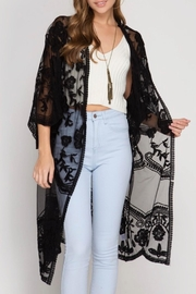 She + Sky Crochet Lace Duster - Product Mini Image