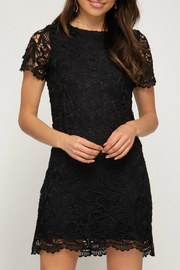 She + Sky Crochet Lace-Overlay Dress - Product Mini Image