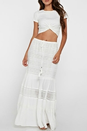 Love Stitch Crochet Lace Skirt - Front cropped