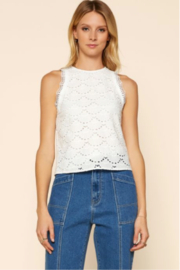Skies Are Blue CROCHET LACE TOP - Product Mini Image