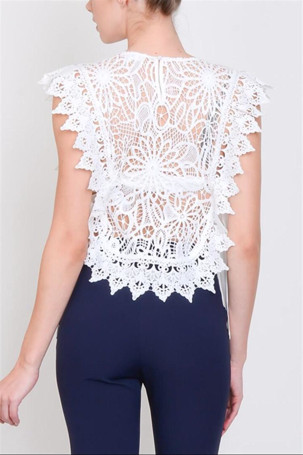 Lulumari Crochet Lace Top - Front Full Image