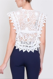 Lulumari Crochet Lace Top - Front full body