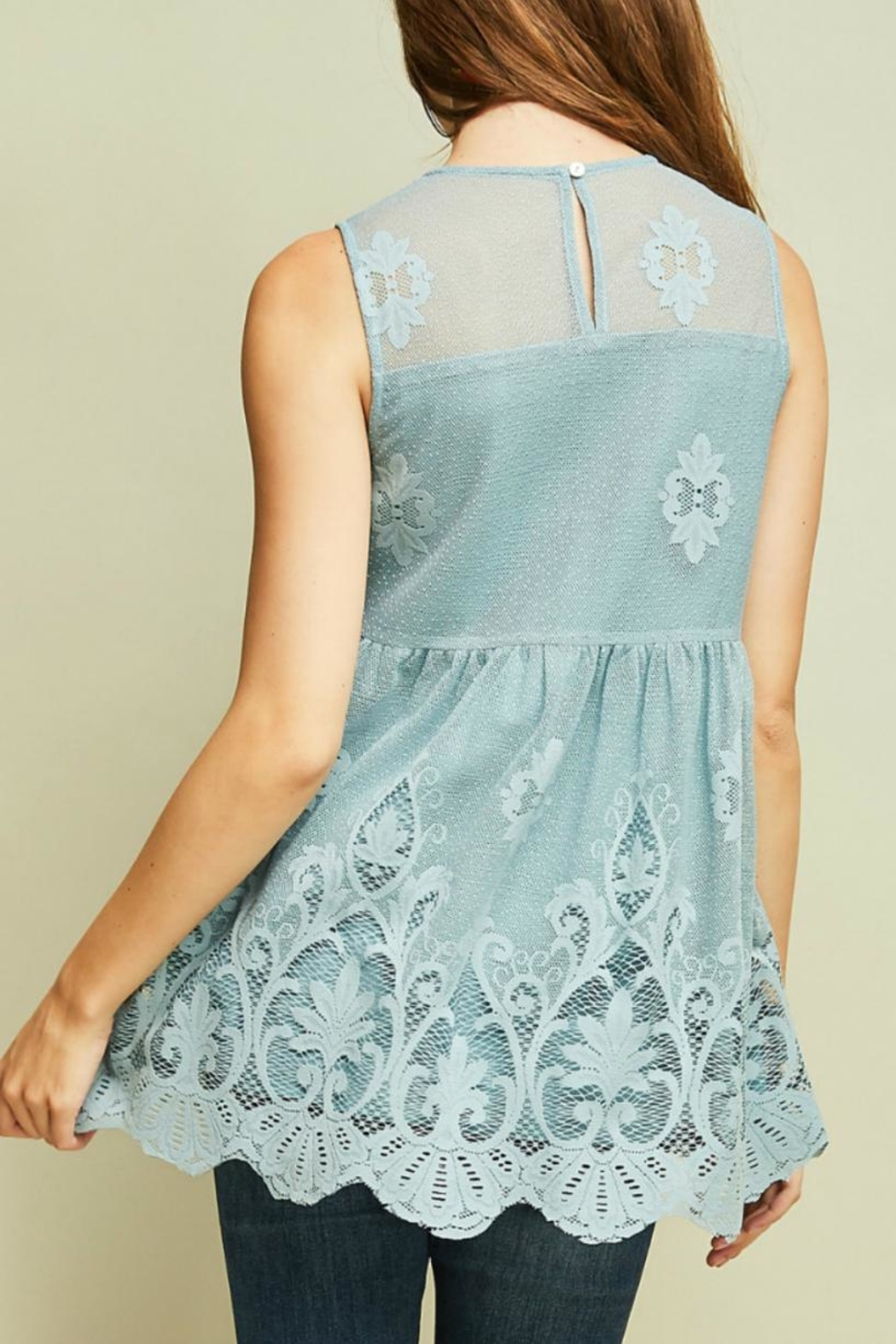 Entro Crochet Lace Top - Front Full Image