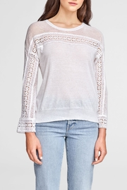 White + Warren Crochet Lace Top - Product Mini Image